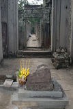 Angkor Offerings. Buddhist Offerings in Temple stock photos