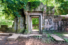 Angkor old temples in the jungle Royalty Free Stock Photos