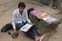 Angkor Painter Royalty Free Stock Photo