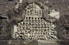 Angkor pediment. Cambodia Angkor pediment at Angkor wat Stock Photography