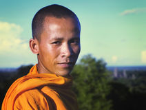 Angkor Portrait Cambodian Monk Traditional Culture Concept Stock Images
