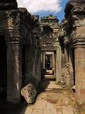 Angkor - Preah Khan Tempel stockfoto