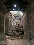 Angkor - Preah Khan Tempel stockfotografie