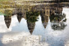 Angkor reflections Stock Photography