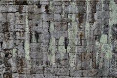 Angkor-Stein-Block-Wand Lizenzfreie Stockbilder