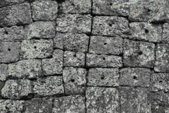 Angkor-Stein-Block-Wand Stockfotografie