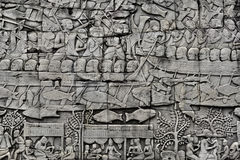 Angkor Stone Bas Relief Royalty Free Stock Photography