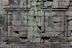 Angkor Stone Bas Relief Wall Stock Photo