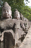 Angkor stone faces Stock Images