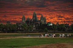 Angkor sunset Royalty Free Stock Image