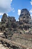 Angkor tempel Bayon Arkivbild