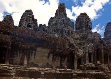 Angkor tempel Bayon Royaltyfria Foton