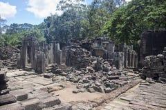 Angkor tempel Bayon Royaltyfri Bild