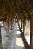 Angkor tempelhall Arkivfoto