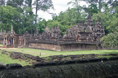 Angkor temple Banteay Srei Royalty Free Stock Photography