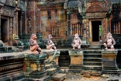 Angkor temple of Banteay Srei, Cambodia Royalty Free Stock Photo