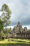Angkor Temple of Bayon with Greenery Stock Images