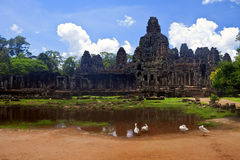 Angkor temple Bayon Royalty Free Stock Images