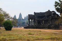 Angkor temple complex Royalty Free Stock Photo