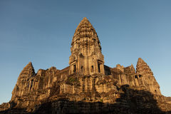 Angkor temple with the morning light Royalty Free Stock Image
