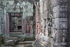 Angkor temple s fragment Royalty Free Stock Image