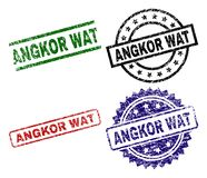 ANGKOR texturisé grunge WAT Stamp Seals Illustration Libre de Droits