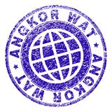 ANGKOR texturisé rayé WAT Stamp Seal Illustration Stock