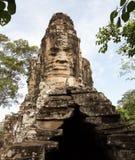 Angkor Thom柬埔寨南门  免版税库存图片
