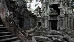 Angkor Thom świątynny kompleks w Siem Przeprowadza żniwa, Kambodża