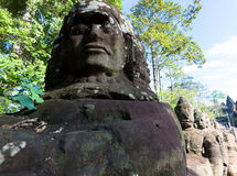 Angkor thom, λεπτομέρεια Στοκ φωτογραφία με δικαίωμα ελεύθερης χρήσης