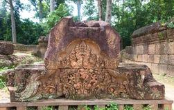 Angkor Thom, διακόσμηση Στοκ Εικόνες