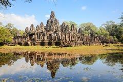 Angkor thom και αντανάκλαση Στοκ Φωτογραφίες