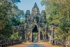 Angkor thom Καμπότζη ανατολικών πυλών Στοκ Φωτογραφία