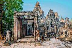 Angkor thom Καμπότζη ναών Prasat bayon Στοκ Φωτογραφία