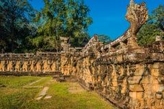 Angkor thom Καμπότζη πεζουλιών ελεφάντων Στοκ Εικόνες