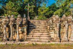 Angkor thom Καμπότζη πεζουλιών ελεφάντων Στοκ Φωτογραφίες