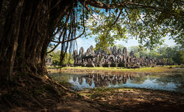 Angkor Thom Καμπότζη Khmer ναός Bayon σε Angkor Wat Στοκ Εικόνες