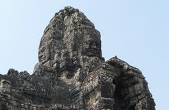 Angkor Thom με το πρόσωπο χαμόγελου Βούδας στο ναό Angkor Wat - Siem συγκεντρώνει, Καμπότζη Στοκ εικόνα με δικαίωμα ελεύθερης χρήσης