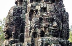 Angkor Thom με το πρόσωπο χαμόγελου Βούδας στο ναό Angkor Wat - Siem συγκεντρώνει, Καμπότζη Στοκ φωτογραφία με δικαίωμα ελεύθερης χρήσης