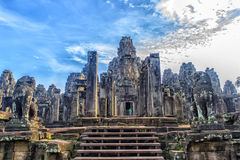 Angkor Thom - ναός Bayon Στοκ φωτογραφία με δικαίωμα ελεύθερης χρήσης