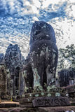 Angkor Thom - ναός Bayon Στοκ εικόνες με δικαίωμα ελεύθερης χρήσης
