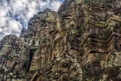 Angkor Thom - ναός Bayon Στοκ εικόνα με δικαίωμα ελεύθερης χρήσης