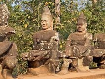 Angkor Thom - νότια πόρτα Στοκ φωτογραφία με δικαίωμα ελεύθερης χρήσης