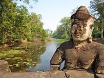 Angkor Thom - νότια πόρτα Στοκ Φωτογραφίες