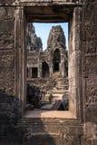 angkor thom στη φήμη πορτών - διάσημοι ταξίδι και γύρος ορόσημων στο ασβέστιο Στοκ Εικόνες