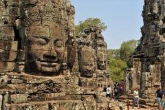 Angkor Thom τα τρία πρόσωπα Στοκ Εικόνες