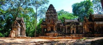 Angkor Thom в свете солнца утра Стоковая Фотография