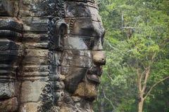 Angkor Thom смотрит на Стоковое Фото