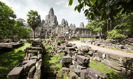 Angkor thom. Angkor wat of cambodia, famous place of siem reap Stock Images