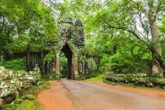νότος πυλών angkor thom Στοκ Εικόνες